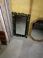 Black rectangle mirror 17 inches by 29 inches