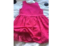 Pink party dress aged 1.5-2 years