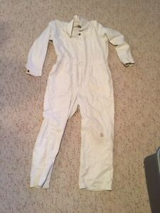 White coveralls. Coyote hunting