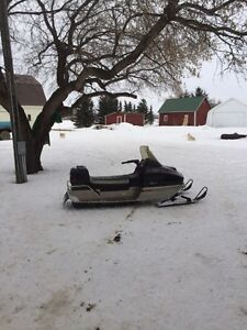 Vintage sled and ice shack for sale!