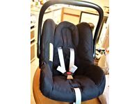 BLACK BABY/TODDLER CAR SEAT - BRITEX MOTHERCARE ``ROMA``