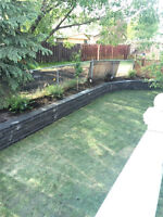 CWLanscaping,post holes, screw piles ,retaining wall etc