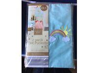 Rainbow cot pockets brand new