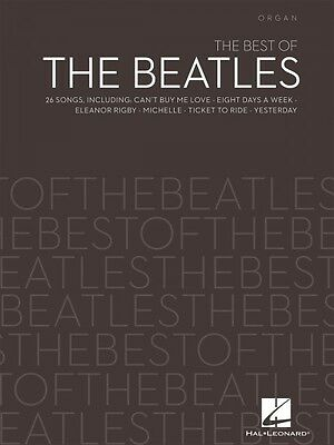 The Best of the Beatles Sheet Music Organ Book NEW 000199075