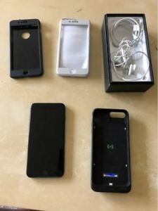 Unlocked Apple iPhone 7 Plus 128GB Jet black w/Apple Care Plus