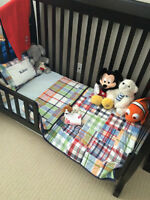 Tammy Convertible Crib + Mattress + Toddler Rail + Double Frame