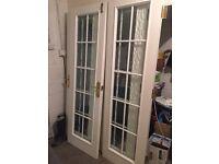 1 pair of glazed internal doors