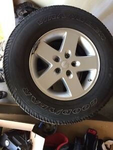 Jeep Wrangler rims with tires