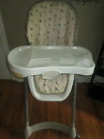 Evenflow adjustable high chair with removeable tray