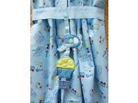 Mothercare Cotbed Bedding & Curtains for baby boy