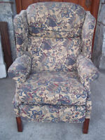 Pair of wing back chair