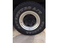 Rays power volk 4x4 split wheels and tyres pajero shogun navara l200 265 75 16 6 stud