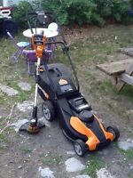 Lawnmower/ weedwhacker combo