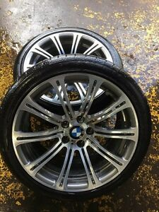 "BMW M3 ORIGINAL 19"" STAGGERED MAG WHEELS WITH TIRES AND TPMS"