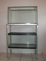 Space Saving , 2 - 27 Gallon Fish Tanks on Aluminum Stand - $140