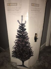 Shimmery chocolate brown 6ft Christmas tree