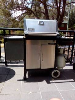 Weber Genesis Gold Stainless Family LPG BBQ barbecue