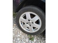 VW Volkswagen polo alloys alloy wheels