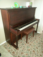 Piano with matching bench For Sale