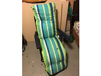 3 x reclining garden chairs with Cushions