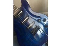 Indie 'Futurist' Guitar in Midnight Blue Flame Maple