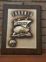 Toronto Argos Commerative Award Plaque Rare Vintage CFL