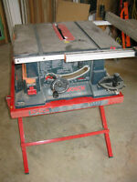 """Bosch Table Saw & Stand  10"""""""