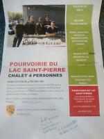 Forfait chalet/chaloupe à vendre -POURVOIRIE DU LAC ST-PIERRE