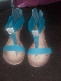 ladies summer shoes both size 40