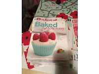 Baking books and accessories.
