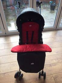 Joie pushchair, waterproof cover, foot muff