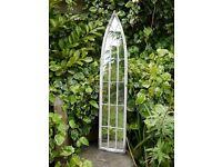 Garden Metal Vintage Style Metal Arch Mirror Tall