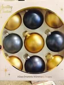 Christmas Holiday Balls Ornaments Bulbs NIB