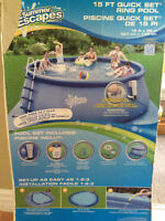 Piscine gonflable 15 pieds