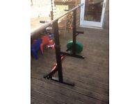 Squat stand weights and Olympic bar
