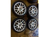 "18"" GENUINE BBS ALLOY WHEELS GOLF GTI MK4 AUDI A3 96-03 CELICA BETTLE TT SET OF 4 no tyres"