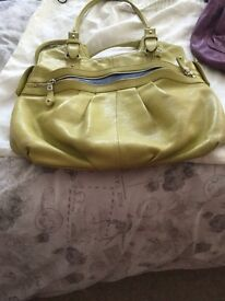 Large Lime Green Leather Handbag