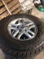 Kumho Road Venture AT tires on gmc factory alloy rims
