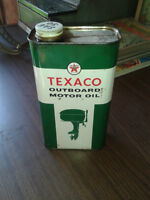 Vintage Outboard motor oil tin\ 1950s Johnson manual