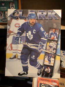 Wendell Clark, Toronto Maple Leafs mounted Picture, mint