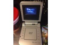 Portable DVD Player with 12v & 240v Adaptors with free DVD