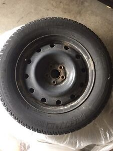 4 Michellin X-ice tires on rims.  Kitchener / Waterloo Kitchener Area image 1