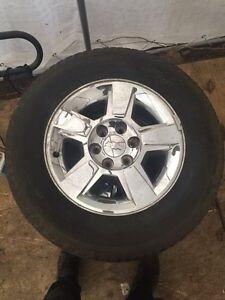 """Silverado 18"""" Rims with tires"""