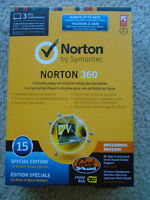 NORTON 360 in double-sealed box...15 MONTHS...Up to 3 PC's !