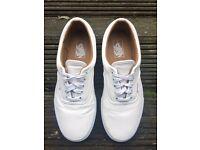 vans era shoes leather white uk 8 us 9