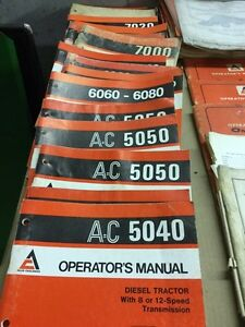 Allis Chalmers Part's, Service and  Operators Manual's Stratford Kitchener Area image 9