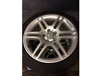 MERCEDES C CLASS SPORT AMG ALLOYS ALL WITH EXCELLENT TYRES