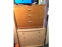 2 free chest of drawers