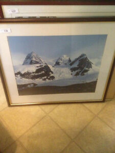 very large framed print in great condtion