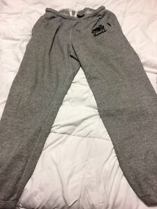 ROOTS Size large salt & pepper joggers